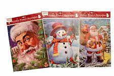Minion Christmas Window Decorations by Christmas Decorations Window Stickers Ebay