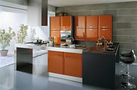 high gloss lacquer kitchen cabinet doors with modular kitchen