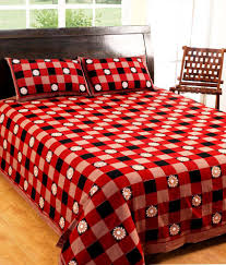 3d Print Bed Sheets Online India 100 Cotton Printed Double Bed Sheet With 2 Pillow Covers 144 Tc
