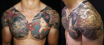 chest arm and sleeves monkey king tattoos chest