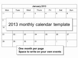blank calendar template for teachers