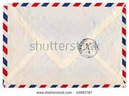 vintage airmail envelope stock images royalty free images