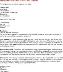 pacu travel nurse cover letter