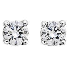white gold diamond stud earrings 18 karat white gold brilliant white diamond stud earrings