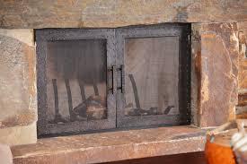 Fireplace Screens Glass Doors by Custom Wrought Iron Fireplace Screens Home Designs Kaajmaaja