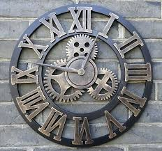 Giant Wall Clock Wall Clock Antique Large Round Wall Clocks Large Vintage Cream