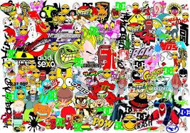 hoonigan sticker bomb top sticker bomb vector real wallpapers