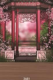 japanese wedding backdrop pink flowers pavilion wedding children photographic