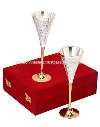 Wine Christmas Gifts Indian Festival Gifts Silver Plated Wine Glass Special Christmas