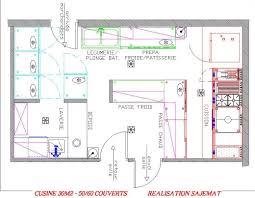 plan cuisine restaurant normes plan de cuisine professionnelle maison design bahbe com