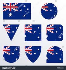 Australia Flags Australia Flag Icon Set Australian Flag Stock Vector 774707833