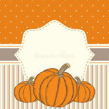 invitation or greeting thanksgiving card template wit