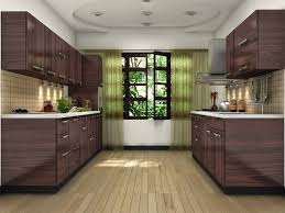 used tambour cupboards black glass tile backsplash subway kitchen