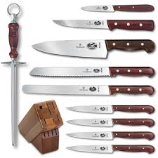 Best Kitchen Knives Set Review by 5 Best Victorinox 11 Piece Knife Set With Block Rosewood Handles