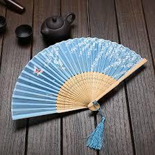 japanese fan wind technology folding fan bamboo silk and wind japanese
