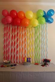 Birthday Decor At Home Best 25 Streamer Wall Ideas On Pinterest Party Wall Decorations