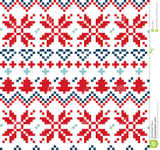 nordic seamless pattern blue and stock photo
