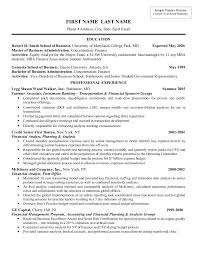 Attractive Resume Template Investment Banking Resume Template Berathen Com