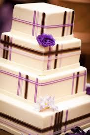 wedding cakes pictures elegant square wedding cake with purple