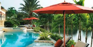 Palm Tree Patio Umbrella Commercial Patio Umbrella Fabric Metal Wind Resistant