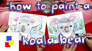 how to paint a koala bear with watercolor pencils youtube