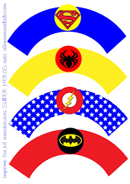 superheroes birthday party free printable wrappers and toppers