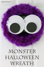 monster wreath diy for halloween crafts unleashed