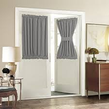 Blackout Door Panel Curtains Blackout Door Window Curtain Panels For Privacy