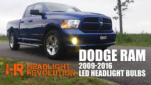 2011 dodge ram headlight replacement led headlight bulb upgrade kit for 2009 2016 dodge ram with
