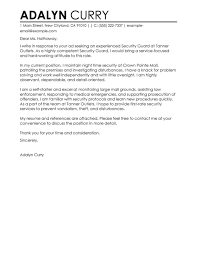 class d security officer cover letter