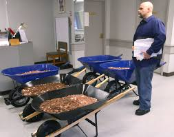 virginia man spends 1 000 to deliver 300 000 pennies to lebanon