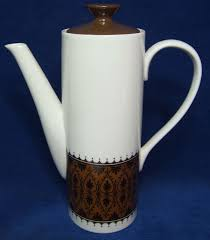 mikasa brocade fine japanese china porcelain coffee pot retro 60 u0027s