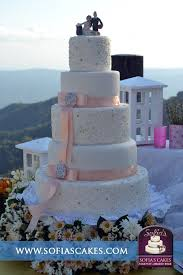 5 tier wedding cake 5 tier tagaytay wedding cake with a touch of salmon pink and gold