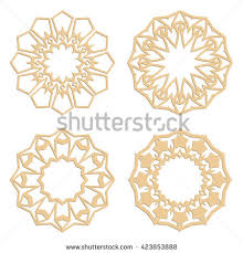 diy laser cutting patterns islamic die stock vector 402817048