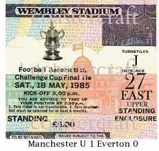 Challenge Do U Tie It Manchester United Challenge Cup Tie 1985 U 1 Everton 0