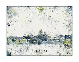 Map Italy Silhouettes Italian Cities by Budapest City Skyline City Silhouettes Painted Maps