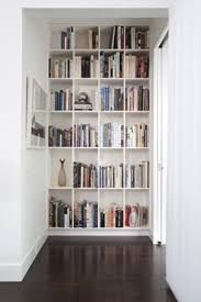 furniture exciting white corner bookshelf with cozy silver ikea