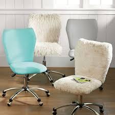 faux fur desk chair polar bear faux fur airgo arm armless chair pbteen