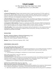 sample resume for internship resume for chemical engineering graduate frizzigame sample resume for chemical engineering graduate frizzigame