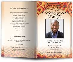 funeral program covers obituary programs templates ethnic american