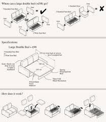 Sofa Dimensions Sofa - Double sofa bed dimensions
