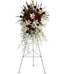 Flowers For Funeral Lily And Rose Funeral Spray Flowers For Funeral Elegant