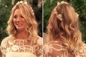 pennys hair on big bang theory big bang wedding penny bridal beauty hair makeup hollywood