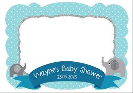 baby shower frames elephant photo frame customize photo booth props baby shower
