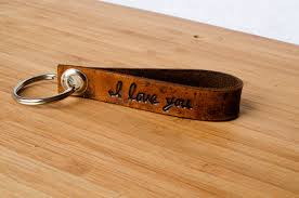 Wedding Gift Kl I Love You Custom Leather Keychain With Personalized Date