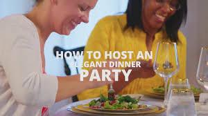 dinner host how to host an elegant dinner party hgtv youtube