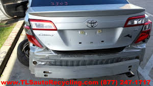 toyota camry trunk parting out 2013 toyota camry stock 3111gy tls auto recycling