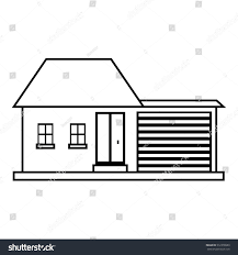 house outline small house icon outline illustration house stock vector 512378980