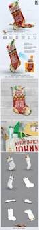 christmas stocking mock up by l5design graphicriver