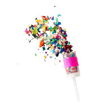 party poppers 4 pack makers mess